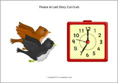 A set of printable cut-out characters and other pictures to accompany the story Peace at Last by Jill Murphy. Use for oral retellings, on classroom displays, story maps and more! Jill Murphy, Peace At Last, Classroom Displays, Retelling, Cut Outs, Healthy, Food, Essen, Meals