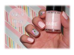 Las uñas de Julia: Nails Art Vintage /Rosa y gris