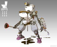 ArtStation - Toiletbots, Emerson Tung