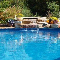 Water features are a great way to add a more natural feel to any pool. (Only Alpha Pool Products)