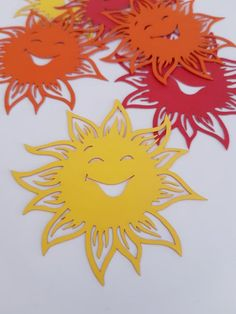 Sunshine Sun Die Cut Out Scrap Booking School Decor Spring Tea Party Decorations, School Decorations, Valentine Decorations, Flower Decorations, Diy And Crafts, Crafts For Kids, Arts And Crafts, Paper Crafts, Spring Decoration