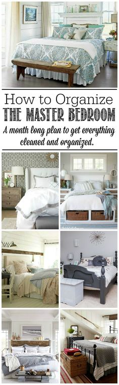 """Everything you need to know to get your master bedroom cleaned and organized - tips, tricks, and free printables included. Even a bedroom can go """"Metal. Clean Bedroom, Home Bedroom, Master Bedroom, Bedroom Decor, Bedroom Ideas, Bedroom Designs, Bedroom Inspiration, Boho Home, Home And Deco"""
