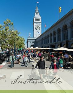 The Ferry Building San Francisco  So many good eats in here & if you go on a Saturday you get a huge farmer's market too!
