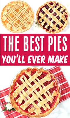 Pie Recipes - Easy Savory Fruit Pies! These simple desserts look like you spent all day in the kitchen, but are really so EASY to make!  Go grab the recipes and give one a try this week! Easy Pie Recipes, Fruit Recipes, Pork Recipes, Baking Recipes, Snack Recipes, Dessert Recipes, Thanksgiving Desserts Easy, Fall Desserts, Christmas Desserts