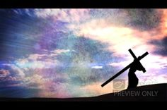 The sobering scene of this worship video loop is one of which we should be continually reminded. It pictures Jesus with the heavy cross on his back. His body, bearing the cross, is silhouetted against the sky. #Sharefaith #Faith #ChurchMedia #VideoLoop #Design