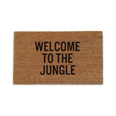A Welcome Mat That Says It All
