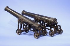 Pair of Bronze British Builders Model Cannons - Inventory - Hyland Granby