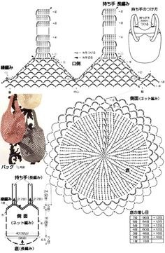 Rustic Market Bag pattern by Camilla N. Crochet Throw Pattern, Crochet Diagram, Crochet Chart, Filet Crochet, Crochet Pouch, Crochet Diy, Crochet Bags, Crochet Handbags, Bag Patterns