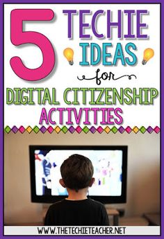 5 EASY techie ideas for digital citizenship activities - fun ideas your students will love!