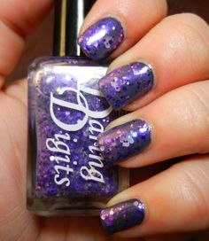 """wow, just wow. this is the power and breadth of the #lupus community! --> """"This is a GREAT Purple shimmer base packed with different sizes of purple hex glitter and silver butterflies. 50% of the proceeds from this polish go to the LFA (Lupus Foundation of America) Priscilla helped me come up with this polish."""""""