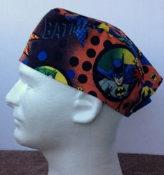 Bat Man, Mens Surgical  Scrub Cap