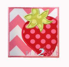 Strawberry Applique Design