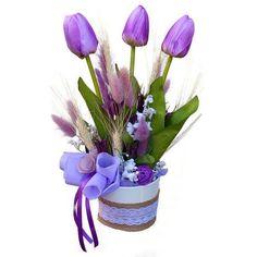 Tulipános asztaldísz - Szárazvirág díszek webáruháza Plants, Plant, Planets
