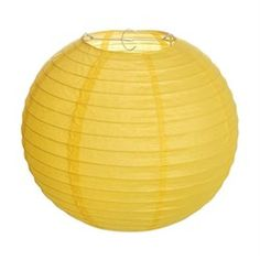 Cromus Festas - Lanterna de Papel Redonda 30cm Amarelo