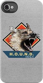 """Project H.O.U.N.D. Liberty, In"" iPhone Case, $42 via RedBubble.Com --- Taken from the tee shirt made famous in 'The Hounds Of Baskerville' episode of #BBC #Sherlock, of course!"