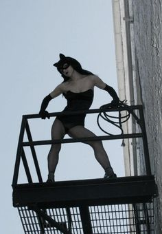 """Cat"" walk.  Denis Medri: 50's Catwoman (50's Rockabilly Batman) LadyLomax."