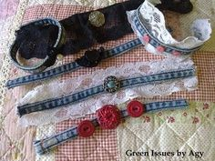 This group accepts handcrafted items made in whole or part from recycled denim. If you have a tired pair of jeans that you've transformed into a prom-dress or an old denim skirt that's now a work of art, be my guest and flaunt it here! Jean Crafts, Denim Crafts, Denim Bracelet, Cuff Bracelets, Green Chandeliers, Art Du Fil, Denim Ideas, Old Jeans, Recycled Denim