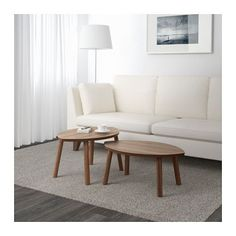 STOCKHOLM Nesting tables, set of 2  - IKEA - use these 2 instead of coffee table