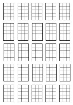Blank guitar chord chart! Print it out and fill it in with