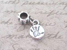 Baby Handprint Pandora Style Charm - using your childs actual handprint