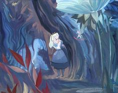 Disney Fine Art Gallery Wrapped Giclee - Peculiar Things by Jim Salvati From Alice In Wonderland Alice In Wonderland 1951, Adventures In Wonderland, Godard Art, Disney Fine Art, Disney Concept Art, Salvia, Art Background, Disney And Dreamworks, Fine Art Gallery