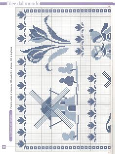 Delft Blue sampler of 2 Cross Stitch House, Cross Stitch Samplers, Cross Stitch Charts, Cross Stitch Designs, Cross Stitching, Cross Stitch Embroidery, Embroidery Patterns, Cross Stitch Patterns, Swedish Weaving