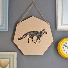 Geometric Wolf Artwork - contemporary art