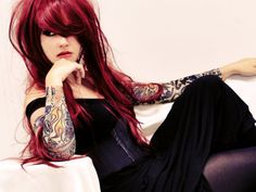 Hair color & ink.