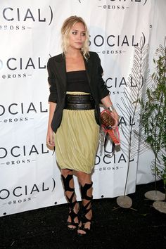 Ashley in an Alaia belt and gladiator sandals