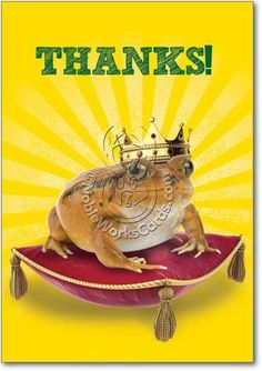 Frog Prince Thank You Card