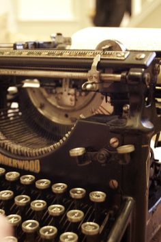 Vintage Typewriter Love | Engaged & Inspired