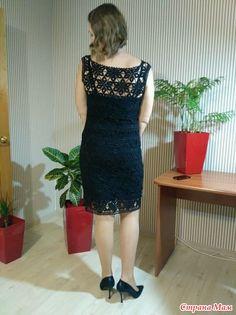 Ура! По-тихоньку исправляю ситуацию сапожник без сапог ))  На носу юбилей, и к нему связала маленькое черное платье - вот результат  Вот узорчик поближе: