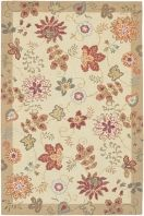 Great floral designs in warm colors make Flor a collection for people who like to add some casual flair to their decor. Hand hooked in China from 100% wool, this collection is a beautiful addition to any home decor. Sample rugs are non-returnable. However, if you purchase a sample and then subsequently buy a 5' x 8' or larger rug from the same collection, we will credit you for the full purchase price of the sample rug.