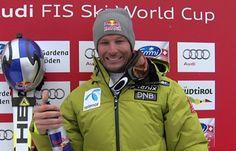 Aksel Lund Svindal mit Bestzeit beim 1. Abfahrtstraining auf dem Lauberhorn in Wengen.