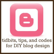 All sorts of really great design stuff!    Something Swanky: desserts and designs.: Tidbits, Tips, and Codes for DIY Blog Designing