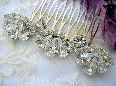 Wedding hair comb accessories Bridal hair comb  royal by Hinuma, $36.00