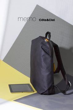 Midnight Blue Zephyr Backpack - The memo Côte&Ciel is a completely new minimalist diffusion line focused on lightweight functionality. Available now at coteetciel.com.