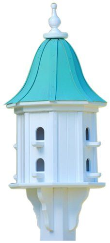 Birdhouses  The Birdhouse Chick - Copper Dovecote Birdhouse-PVC 36x14 Garden *** This is an Amazon Associate's Pin. Click the image to view the details on the website.