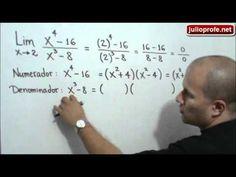 Limite solucionado mediante factorización: Julio Rios explica cómo resolver un límite algebraico utilizando como estrategia la factorización del numerador y del denominado