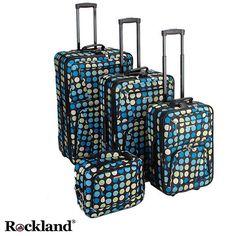 Rockland Blue Dot 4-piece Expandable Luggage Set