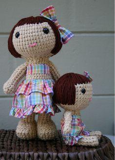 """lola and lulu 1 by my sweet dolls, via Flickr"" #crotchet #animals #toys #crotchetanimals Crotchet Animals Must make!"