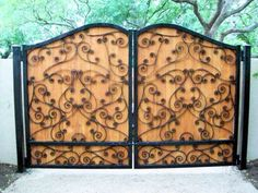 iron wood gates - Google Search