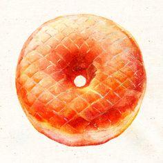 Honey dip doughnut ~ illustration