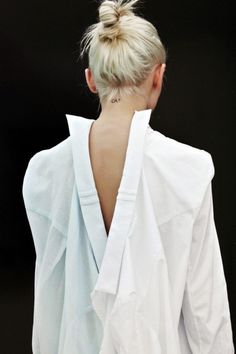 white shirt à l'envers, #coton