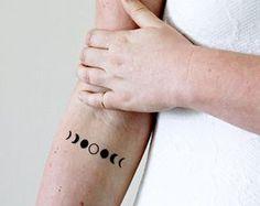Moon phase temporary tattoo / moon temporary tattoo by Tattoorary