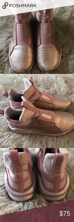 7df10a2da52e Kylie Jenner Rose Gold Puma Sneakers