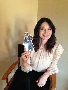 Caitriona Balfe with Pocket Jamie