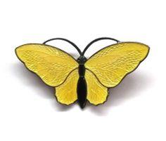 Norway Aksel Holmsen Vtg Yellow Black Enamel Sterling Silver Brooch Pin 925s | eBay