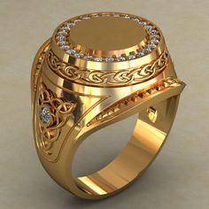 Resultado de imagen de pictures of unique mens signet rings Mens Diamond Jewelry, Mens Gemstone Rings, Mens Gold Rings, Rings For Men, Tungsten Wedding Bands, Wedding Ring Bands, Mens Ring Designs, Engraved Rings, Signet Ring
