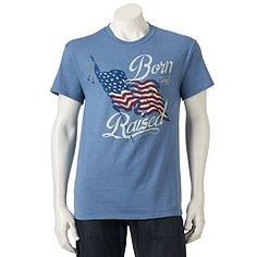 Salute the USA with this men's patriotic tee. Shirt Shop, T Shirt, Graphic Tees, Mens Tops, Clothes, Box Store, Shopping, Usa, Fashion